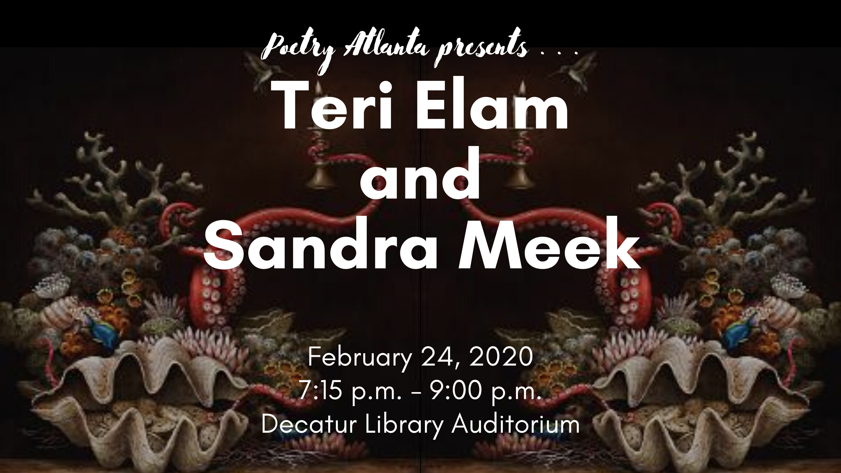 Poetry Atlanta presents . . . Teri Elam and Sandra Meek